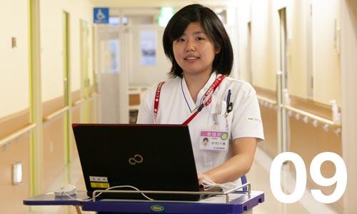 画像:中村さん・看護師